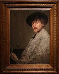 James Abbott McNeill Whistler: Arrangement in gray: portrait of the painter
