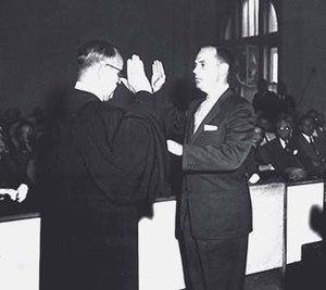 James C. Gardner - James Creswell Gardner's swearing in as the mayor of Shreveport, Louisiana (1954)