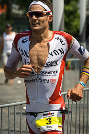 Jan Frodeno während des Ironman Germany 2015 in Frankfurt am Main