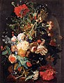 Jan van Huijsum - Vase of Flowers in a Niche - WGA11828.jpg