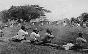 Japanese shooting blindfolded Sikh prisoners