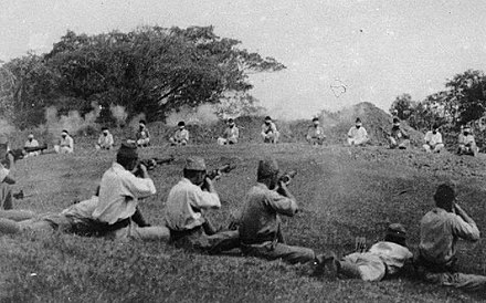 Japanese soldiers shooting blindfolded Sikh prisoners Japanese shooting blindfolded Sikh prisoners.jpg