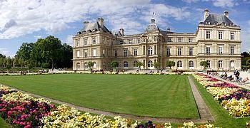 otra vista del jardn de luxemburgo y palacio