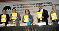 Jayanthi Natarajan releasing the National Bear Action Plan, at the 21st International Conference on Bear Research and Management, in New Delhi on November 26, 2012 (1).jpg