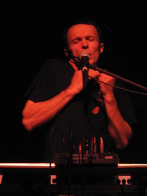 Jean-Louis Costes - Jean-Louis Costes during a live musical performance in Dijon, June 2009.