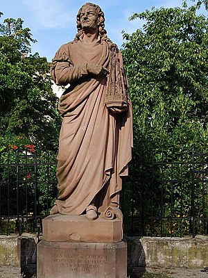 Strasbourg Cathedral - André Friedrich: Monument to Johannes (Jean) Hültz, architect of the octagonal top, in Strasbourg.