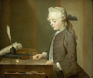 Jean-Baptiste-Siméon Chardin -  Boy with a Top, c.1735, oil on canvas, São Paulo Museum of Art