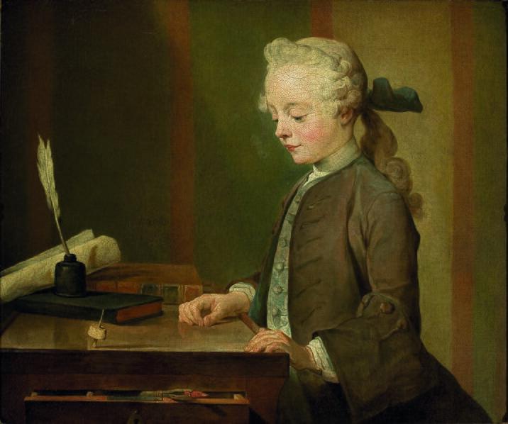 Jean Siméon Chardin - Retrato de Auguste Gabriel Godefroy