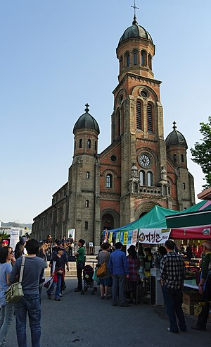 Religion in South Korea - Jeondong Catholic Cathedral in Jeonju, North Jeolla Province.