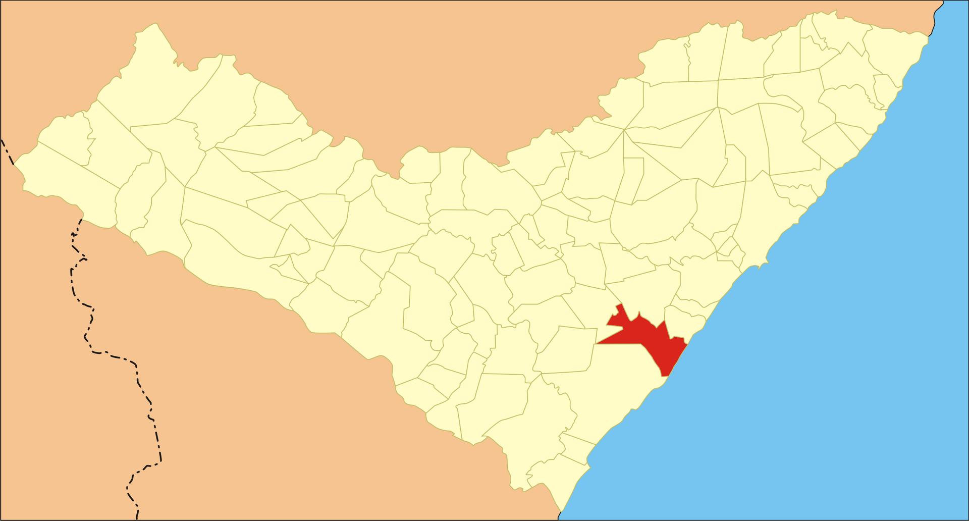 Localização de Jequiá da Praia