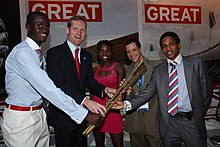 Jeremy Browne with the Belize Olympic team.jpg