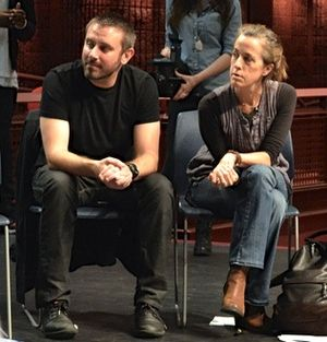 Naomi Wallace - Jeremy Scahill and Naomi Wallace giving a writing workshop in New Haven