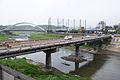 Jiangbei Bridge View from Keelung River South Riverside 20150430.jpg