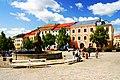 Jihlava, Masarykovo náměstí a kašna bohyně Amfitríty.jpg