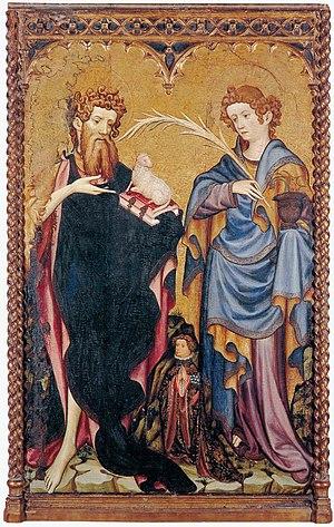 Saint John the Baptist and Saint John the Evangelist with Donor