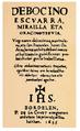 Joannes Haranbururen Debocino escuarra-ren lehenbiziko faksimile-edizioaren azala (Bordele, 1635).png
