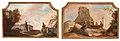 Johan Pasch, väggfält, ruinlandskap med soldat och sittande kvinna samt soldat och kvinnor vid brunn.jpg