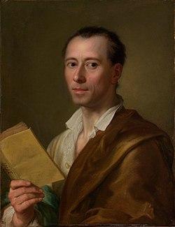 Ο Γιόχαν Γιόαχιμ Βίνκελμαν σε πορτραίτο του Ράφαελ Μενγκς.