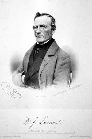Johann von Lamont - Johann Lamont, lithograph by Rudolf Hoffmann, 1856.