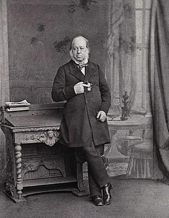John Gould - A studio photograph (c. 1860)
