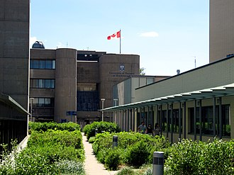 University of Toronto Scarborough - Looking west: Science Wing ahead, Bladen Building on the left, and the Arts and Administration Building on the right.
