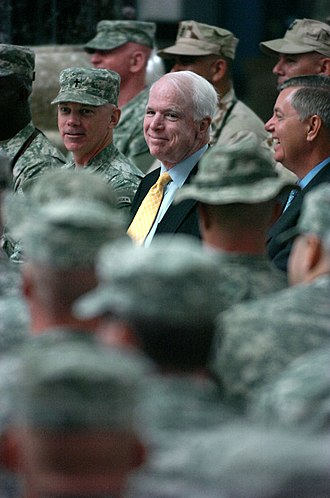 Lindsey Graham - John McCain and Lindsey Graham, Al-Faw Palace, Iraq, 2007
