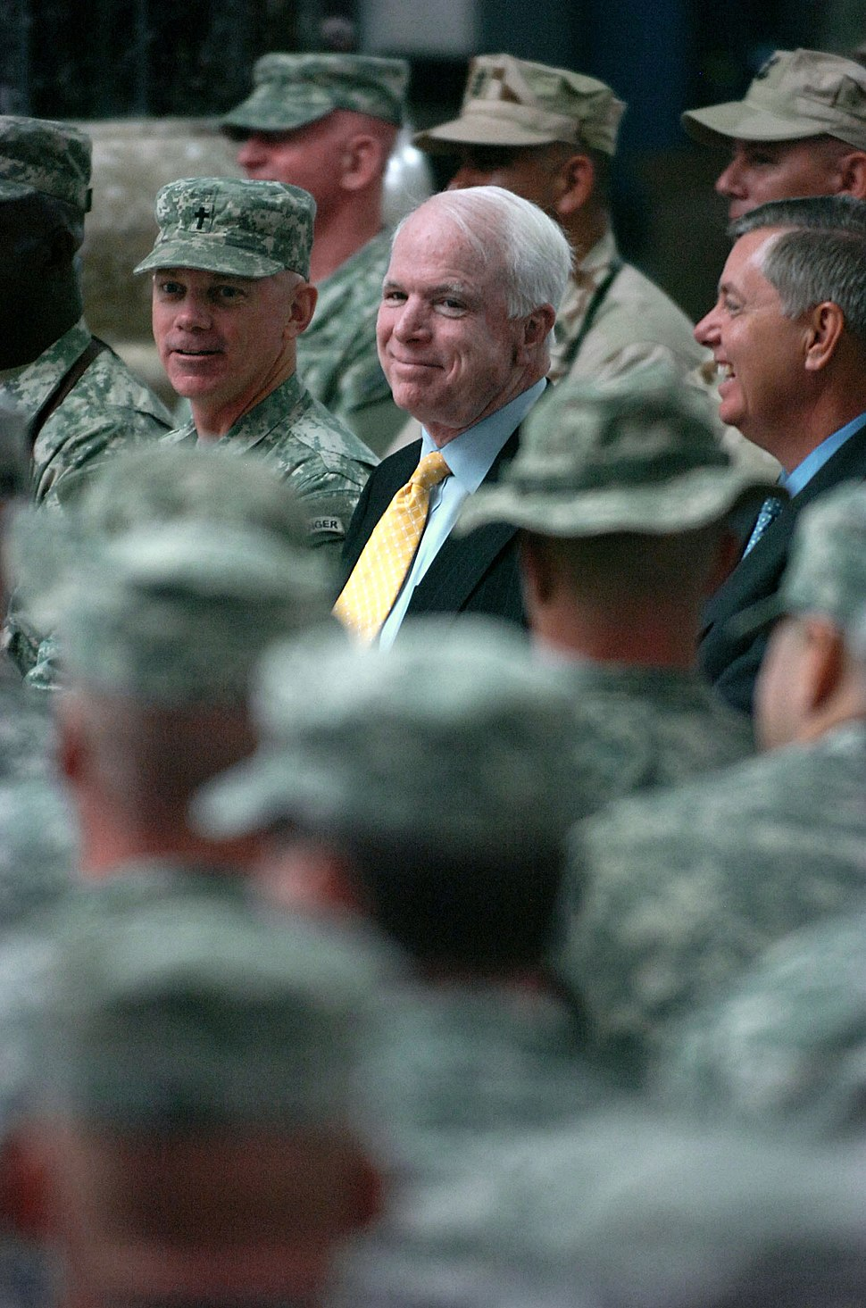 John McCain and Lindsey Graham Al-Faw Palace Iraq