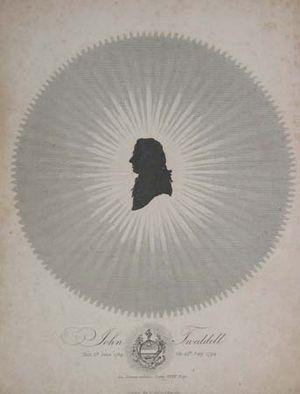 Tweddell remains affair - John Tweddell, silhouette portrait