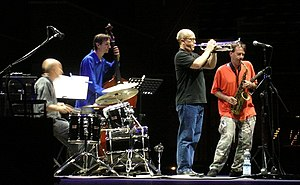 Dave Douglas (trumpeter) - Dave Douglas (in black) with Masada
