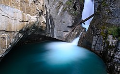 Lower falls of Johnston Canyon