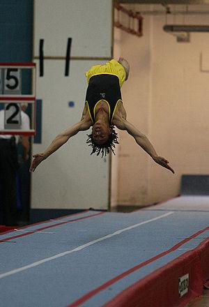Tumbling (gymnastics) - Jordan Ramos in the British Tumbling Championships