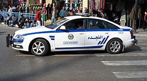 Law enforcement in Jordan - An Amman City Centre Police Vehicle