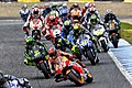 Jorge Lorenzo leads the pack 2015 Jerez 3.jpeg