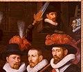 Joris van Schooten - Officieren van het geel-oranje vendel van kapitein Cornelis van Kerchem, 1626 - S 388 - Museum De Lakenhal.jpg