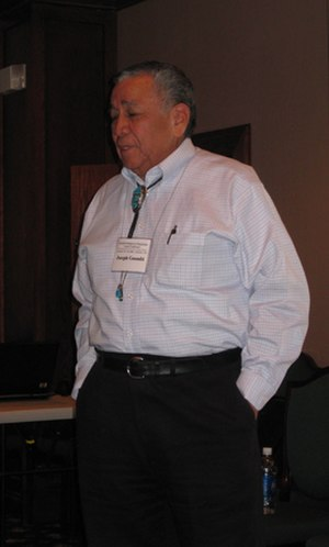 Kiowa - J.T. Goombi, former Kiowa tribal chairman and first vice-president of the National Congress of American Indians