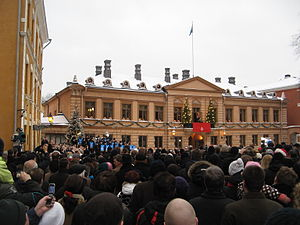 Christmas Peace - Declaration of Christmas Peace at the Old Great Square of Turku in 2009
