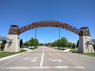 Meridian, Idaho - Image: Julius M Kleiner Memorial Park Entrance