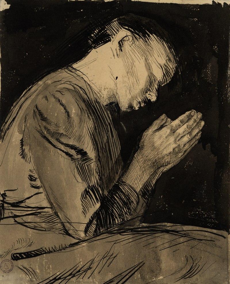 Käthe Kollwitz, Betende Frau (Femme en prière).jpg