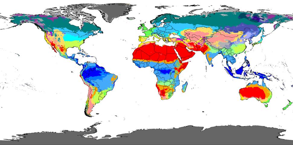 Köppen-Geiger Climate Classification Map