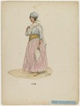 KITLV - 36C350 - Bray, Th. - Petit - Plantation house maid in dance costume - Colour lithography - 1850.tif
