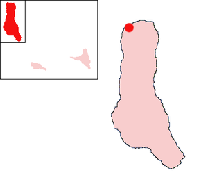 Mitsamiouli - Location of Mitsamiouli on the island of Grande Comore