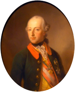 Georg Decker: Portrait vum Chaiser Joseph II.