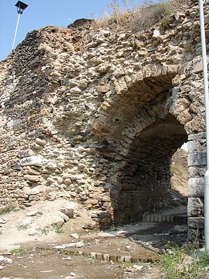 Serbian Empire - Main Gate of the Fortress in Prizren, which Dušan used as capital of Empire