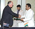 Kamal Nath and the Trade Minister of Australia, Mr. Warren Truss exchanging the signed agreed minutes of the 10th Joint Ministerial Commission meeting between India and Australia, in New Delhi on February 28, 2007.jpg