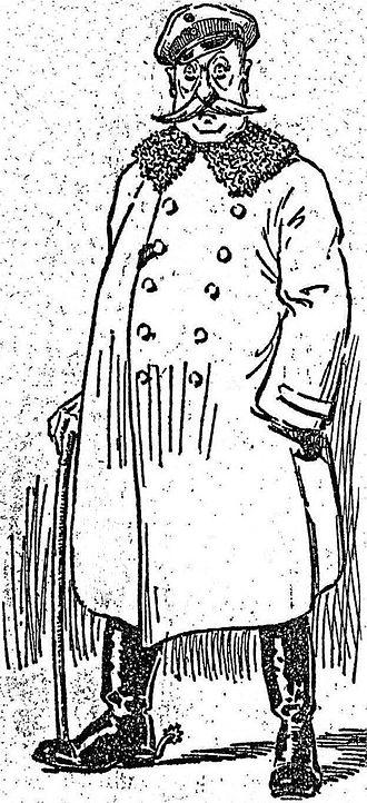 Holzminden prisoner-of-war camp - Caricature of Hauptmann Karl Niemeyer