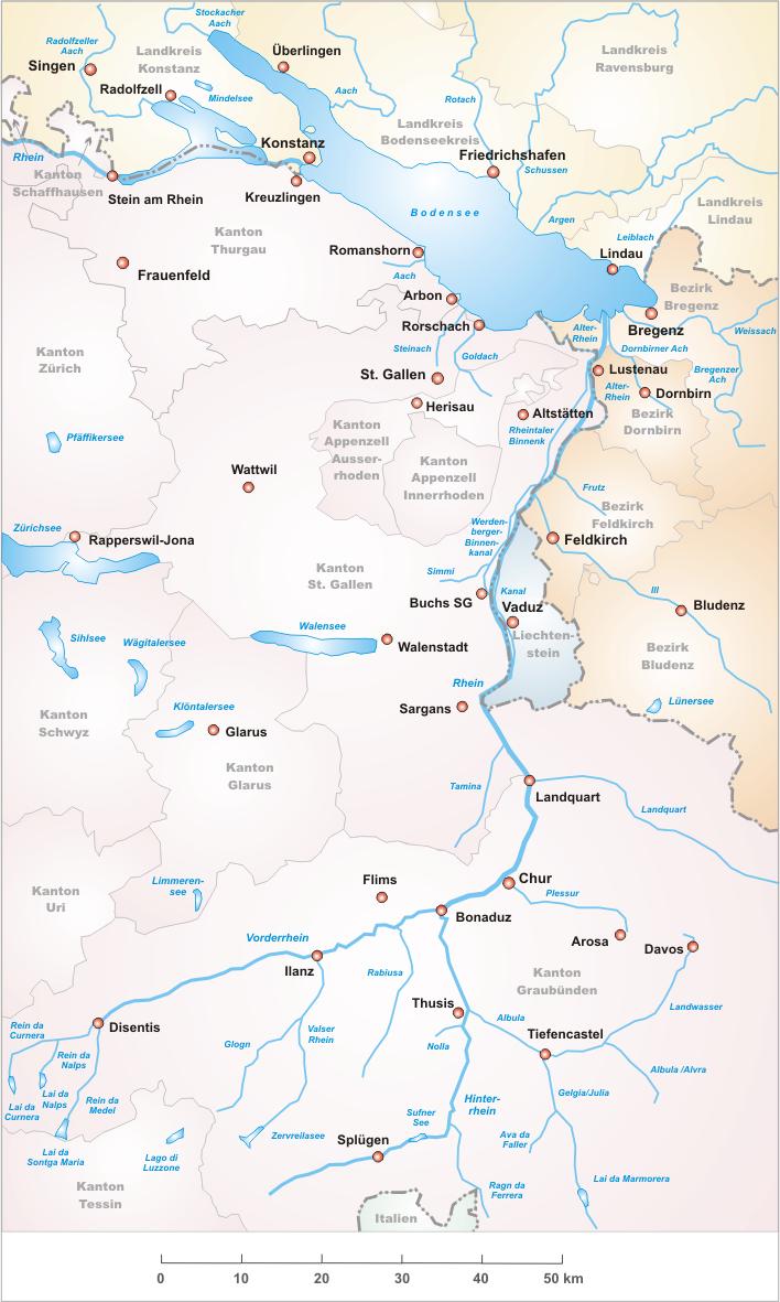 Karte Alpenrhein