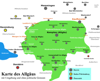 Map Of Southern Germany With Cities.Allgau Wikipedia