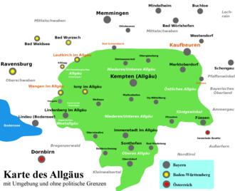 Karte Oberbayern Landkreise.Allgau Wikipedia