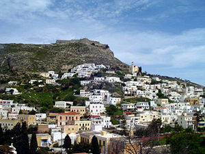 Leros - View of the castle of Leros