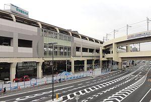 Keikyū Kamata Station - The south-east side of the station, March 2013